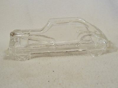 Vintage  Car Shaped Glass Candy Container / 1982 B. Shackman & Co.