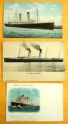 rms OCEANIC Lot of 3 vintage Postcards White Star Line Ship