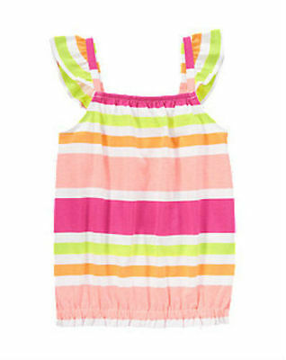 NWT Gymboree Girl BRIGHT AND BEACHY Striped Knit Shirt  Size 5
