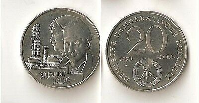 EAST GERMANY 20 mark 1979 ''30th Anniversary - East Germany''