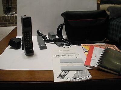 Vintage Cellular One by Motorola Brick Cell Phone with Accessories