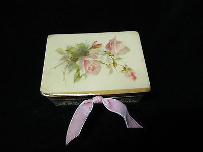 victorian -1920s jewelry box pink rose antique vintage shabby french style