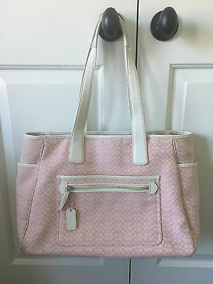 Coach Signature Business Tote Diaper Baby Bag Multifunction Bag Pink No. 5707