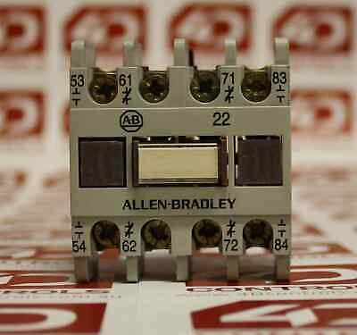 Allen Bradley 195-FA22 AUXILIARY CONTACT 2NO/2NC FRONT MOUNT - Used - Series A