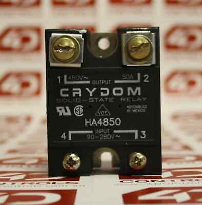 Crydom HA4850 Solid State Relays - Industrial Mount PM IP00 SSR 530VA C/50A A...