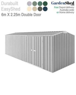 EasySheds 6m x 2.25m Double Door Workshop - FREE Anchor & Skylight (Sep only)