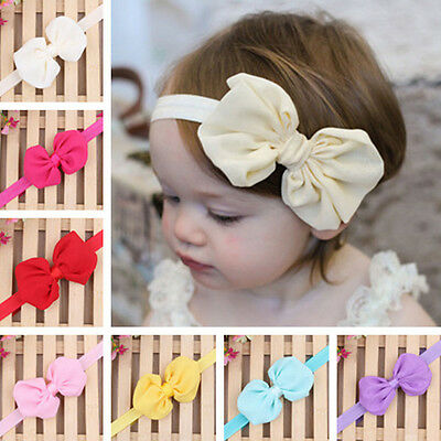 Lovely Infant Kid Girl Baby Bowknot Princess Headband Hair Bow Band Accessories