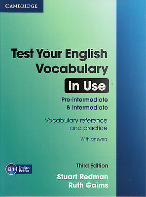 TEST YOUR ENGLISH VOCABULARY IN USE PRE & INTERMEDIATE 3rd Edition w Answers NEW