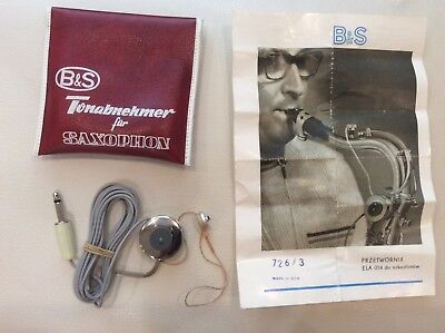 B&S / ELA 014 Very Rare Vintage Saxophone Pickup / microphone MADE IN GDR