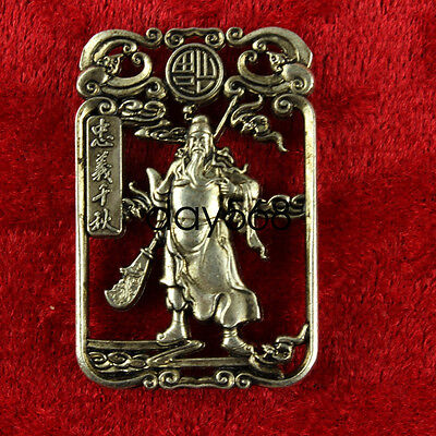 China Wonderful Miao Silver handwork Lifelike Guan Yu  Lucky Pendant