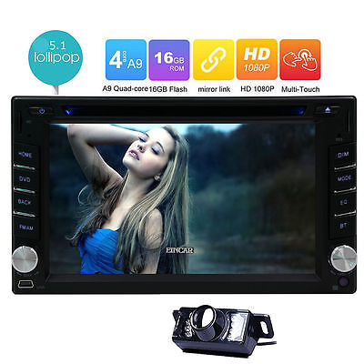 "7"" Double 2 DIN In-Dash Android Stereo Car GPS WIFI Sat Nav Radio Bluetooth+Cam"
