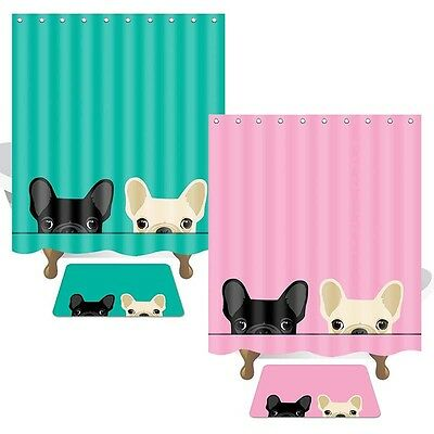 Animal Design Printed Bathroom Shower Curtains Thicker With 12 Rings Bath Decor