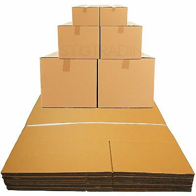 """10 Strong Double Wall Mailing Cardboard Boxes 18X18X12"""""""