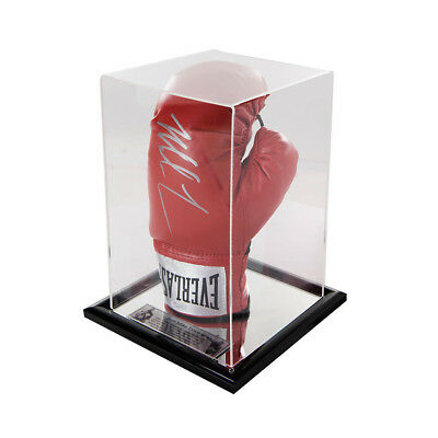 Signed Iron Mike Tyson Boxing Red Glove in Acrylic Case -Heavy Weight Champ