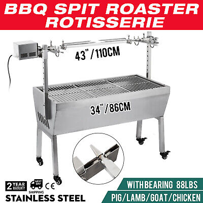Charcoal Hog Roast Barbeque Spit Machine Oven Rotisserie Bbq Tasty Pig 40Kg