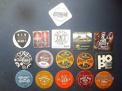 16 different NEW SOUTH WALES MICRO BREWERIES BEER COASTERS