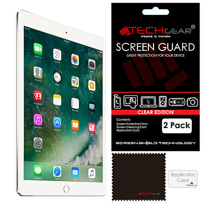 """2 Pack of TECHGEAR Screen Protector Guard Covers for New Apple iPad 9.7"""" (2017)"""
