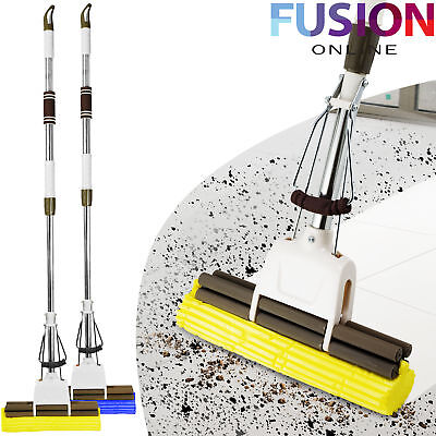 Sponge Mop Heavy Duty Super Absorbent Cleaning Floor Telescopic Sponge Handle