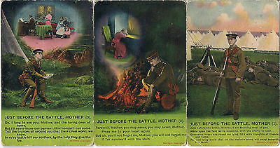Bamforth Postcards Just Before The Battle Mother 4778 1/2/3