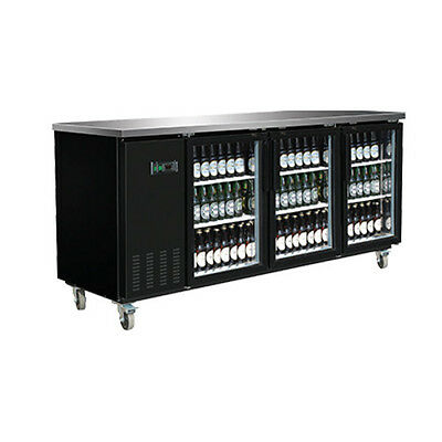 Maxx Cold MXBB90G 3 Section Glass DoorRefrigerated Back Bar