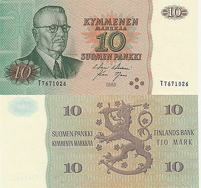 Finland 10 Markkaa Banknote,1980 Uncirculated Condition Cat#111-A-1026