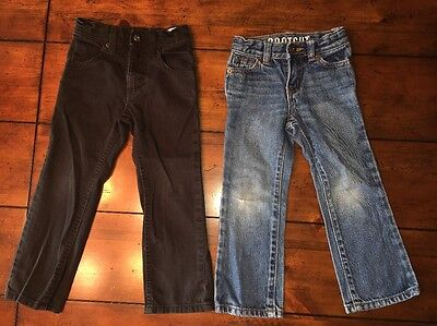 2 Pairs Of Boys Size 4 Slim Jeans