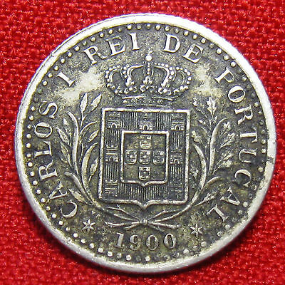 1900 Portugal 100 Reis Foreign Coin