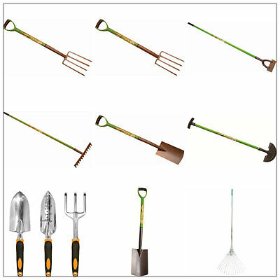 Garden Border Digging Spade Shovel Fork Dutch Hoe Leaf Lawn Rake Carbon Steel