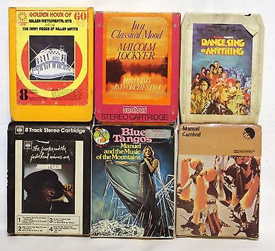 6 x Vintage 8 track cassette Tapes (lot 9)