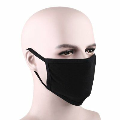 5Pcs Black Health Cycling Anti-Dust Cotton Mouth Face Respirator Unisex Mask