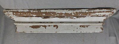 Large Antique Window Pediment Header Old Vintage Shabby Victorian Chic 249-17R