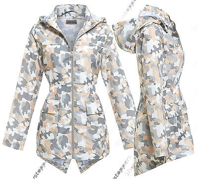 NEW Girls Raincoat Mac Girl Cagoule Shower Proof Jacket Age 7 - 13 Years Peach