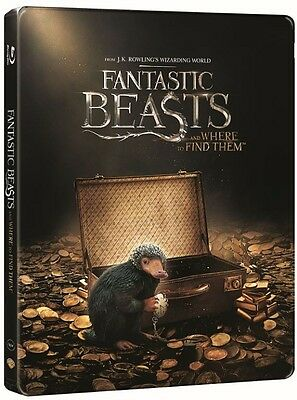 Fantastic Beasts and Where to Find Them Steelbook 3D + 2D Blu Ray + Safe Cover
