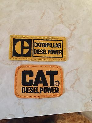 2 Vintage Caterpillar Diesel Power Sew-on Embroidered Patch