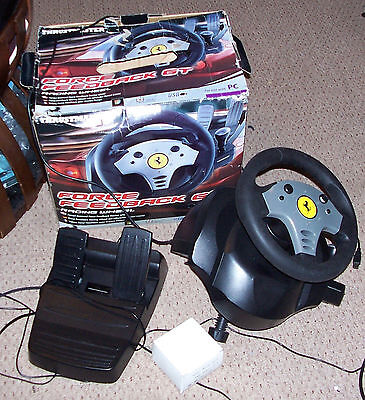 Thrustmaster Force Feedback GT Racing Wheel - PC - Volant + pédales - ref V2