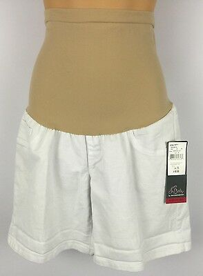 Oh Baby by Motherhood Secret Fit Belly White Shorts Size Small NWT