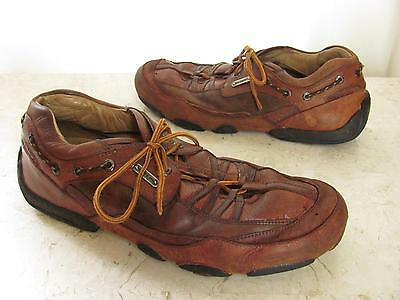 HS Trask Shoes Mens 12 M Brown Leather Athletic Sneakers Oxfords Tennis Trophy