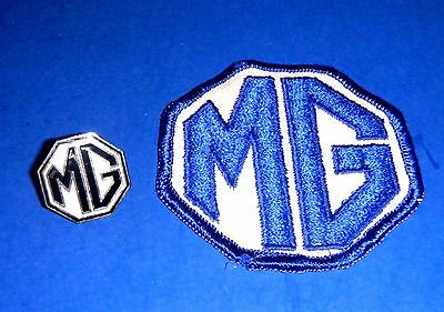 Vintage MG Embroidered Patch & Enameled Lapel Pin or Hat Badge