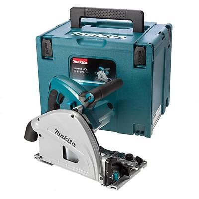 Makita Sp6000J1 240 Volt Plunge Saw In Carrying Case + 2 Rails And Joining Bar