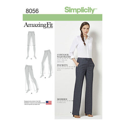2ea802d5df44 Simplicity 8056 Amazing Fit Miss   Plus Size Flared Trousers or Shorts  Pattern
