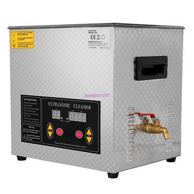 10L Stainless Steel Industry Heated Ultrasonic Cleaner Heater Heating With Timer