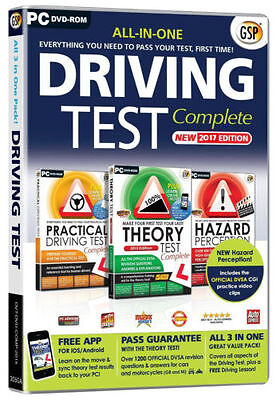 All in One 2017 Driving Test Complete Hazard Theory + Practical DVD CD LATEST UK