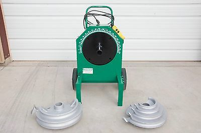 "Greenlee 555 Conduit Bender with 1/2""- 2"" shoes and supports for IMC and Rigid"