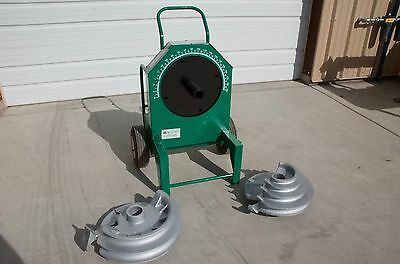 "greenlee 555 bender with 1/2"" - 2"" Shoes and supports for IMC and Ridgid"