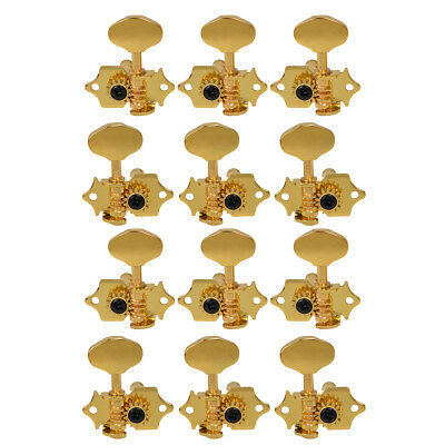 2 Set Guitar Tuning Pegs Tuner Machine Head For Guitar Replacement Gold