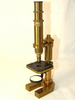 antique brass MICROSCOPE CARL ZEIS JENA,Germany,№ 6217