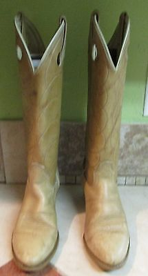 Women's Vintage Brown Leather ACME Tall Cowboy Western Riding Boots size 8