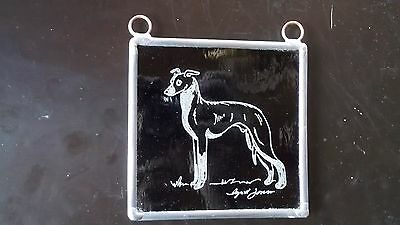 Italian Greyhound- Hand engraved medallion by Ingrid Jonsson