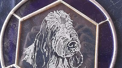 PBGV-  Original Design  Hand Engraved Designer  panel by Ingrid Jonsson