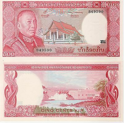 Laos 500 Kip Banknote 1974 Uncirculated Condition Cat#17-A-9590